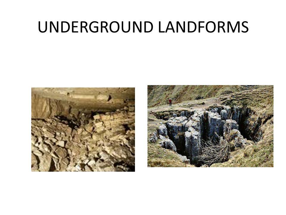 UNDERGROUND LANDFORMS