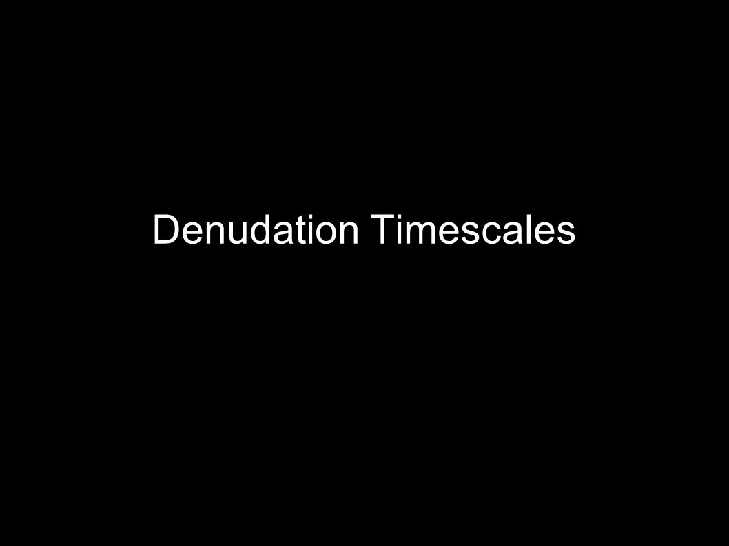 Denudation Timescales