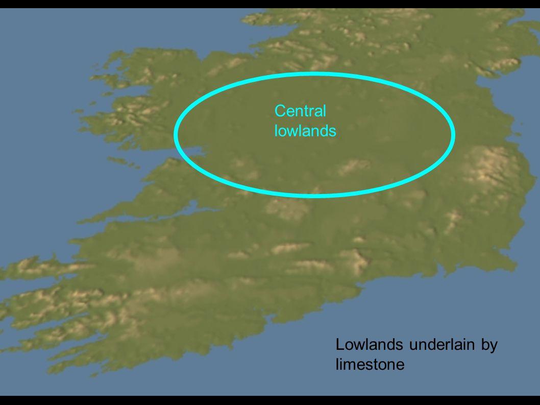 Lowlands underlain by limestone Central lowlands