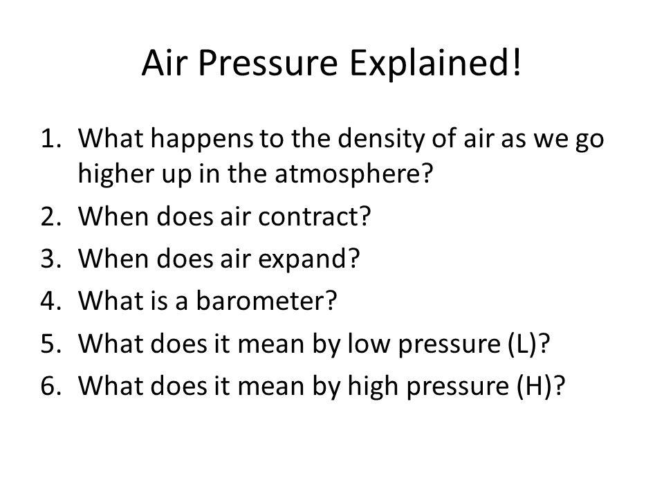 Air Pressure Explained.