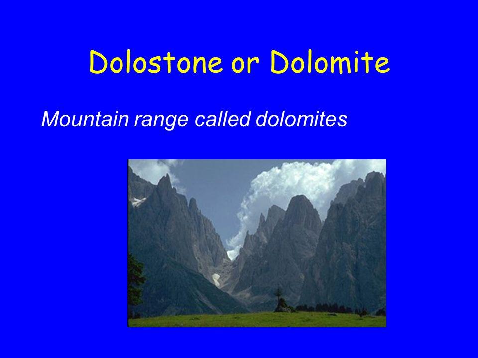 Dolostone or Dolomite Mountain range called dolomites
