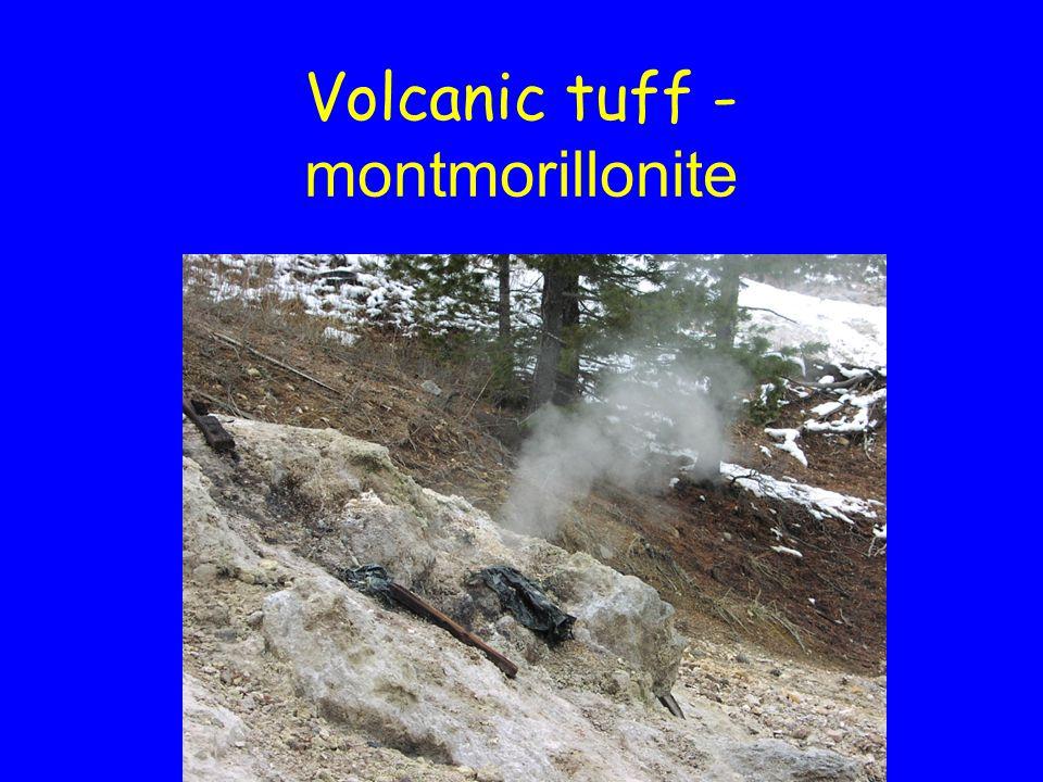 Volcanic tuff - montmorillonite