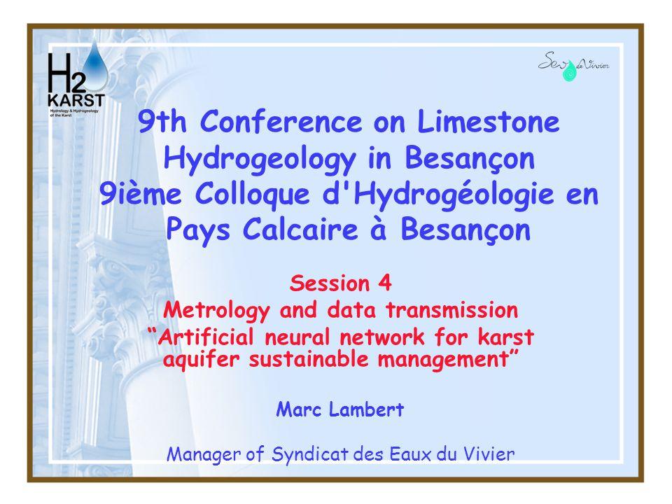 12 Inverse modelling (TEMPO BRGM) 9th Conference on Limestone Hydrogeology in Besançon
