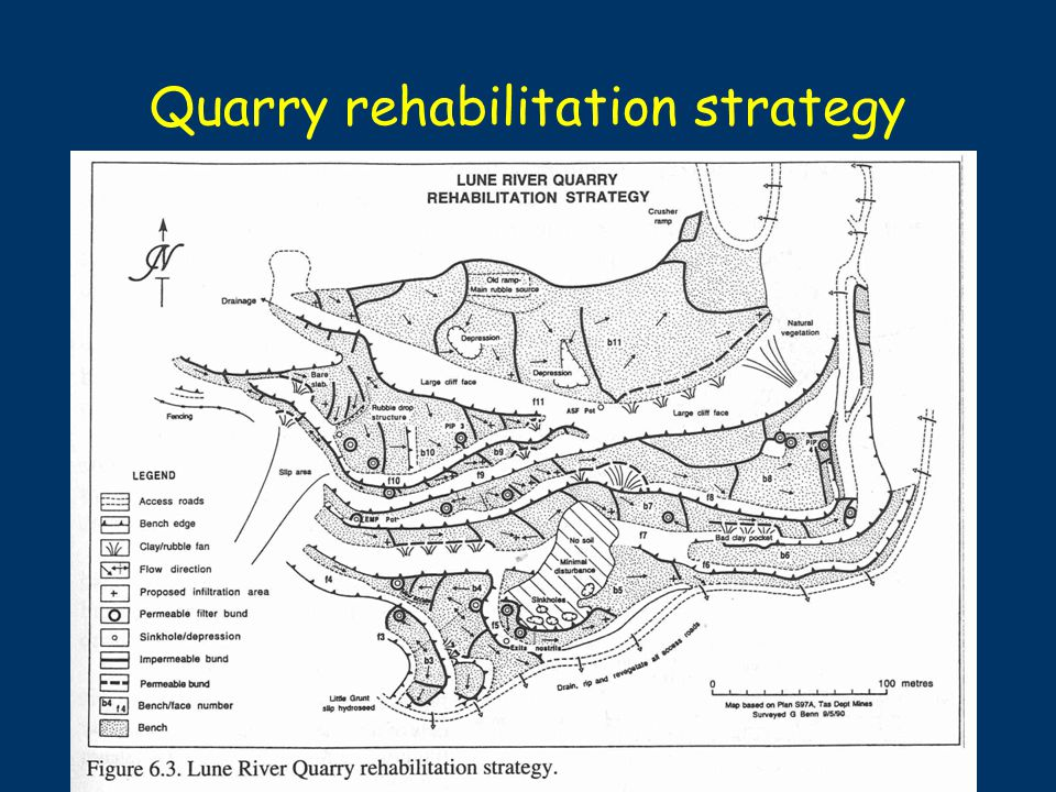 Quarry rehabilitation strategy