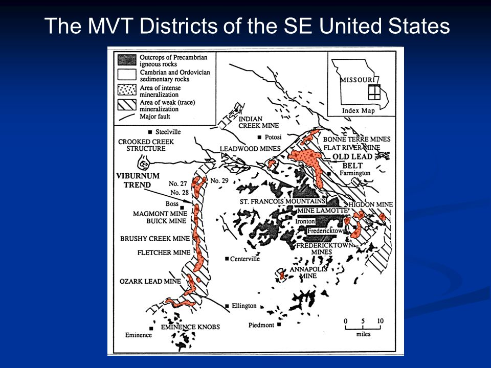 The MVT Districts of the SE United States