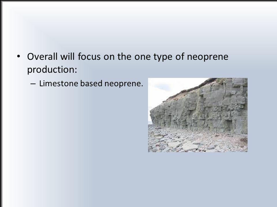 Overall will focus on the one type of neoprene production: – Limestone based neoprene.