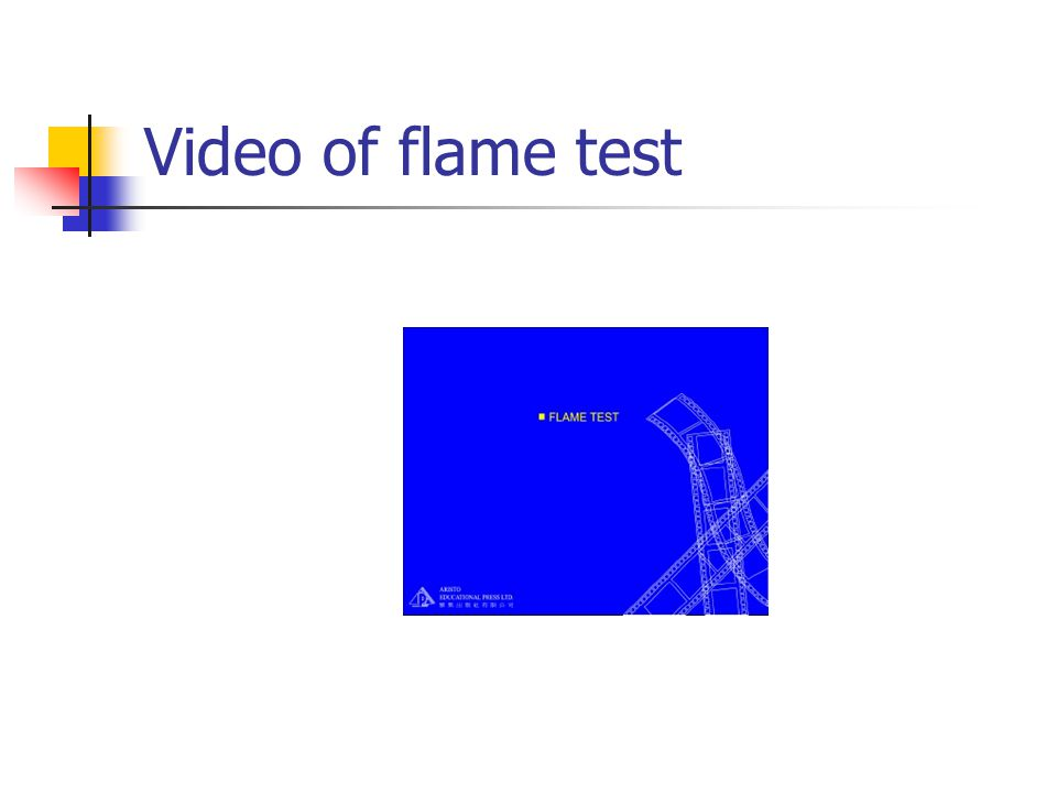 Video of flame test
