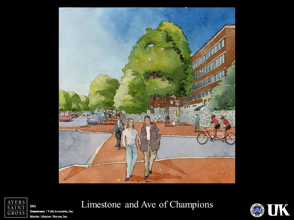 ZHA Zimmerman / Volk Associates, Inc. Martin / Alexiou / Bryson, Inc. Limestone and Ave of Champions