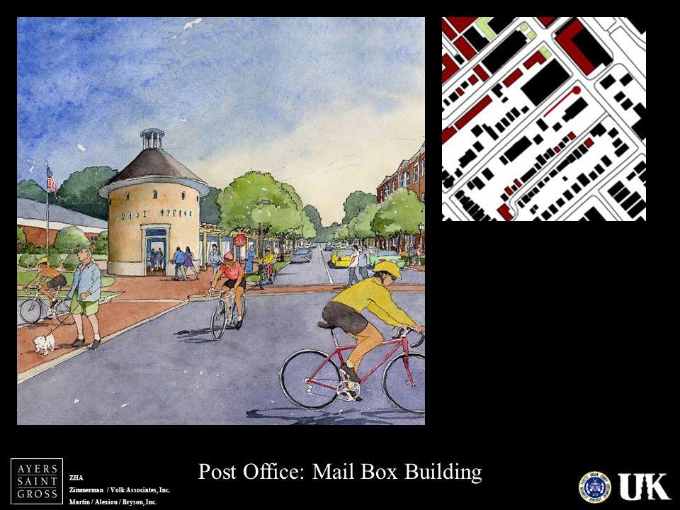 ZHA Zimmerman / Volk Associates, Inc. Martin / Alexiou / Bryson, Inc. Post Office: Mail Box Building