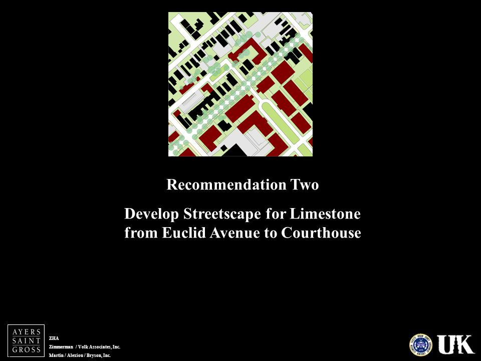 ZHA Zimmerman / Volk Associates, Inc. Martin / Alexiou / Bryson, Inc. MLK RESIDENTIAL Recommendation Two Develop Streetscape for Limestone from Euclid