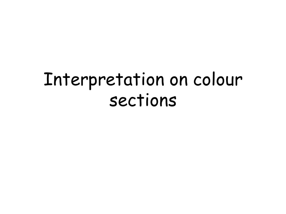 Interpretation on colour sections