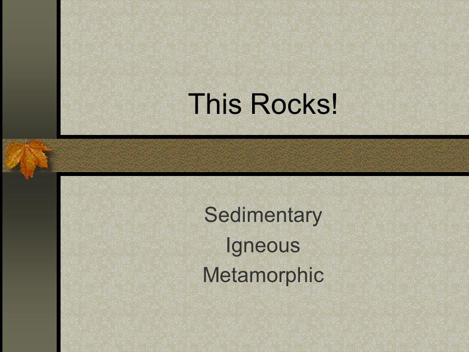 This Rocks! Sedimentary Igneous Metamorphic
