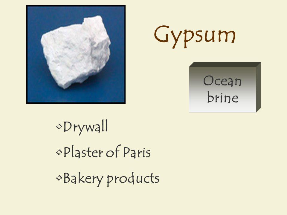 Gypsum Drywall Plaster of Paris Bakery products Ocean brine