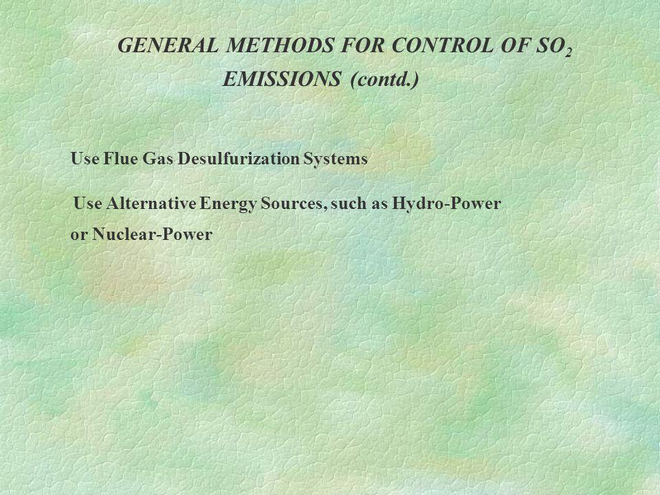 GENERAL METHODS FOR CONTROL OF HYDROCARBON EMISSIONS Incineration or after burning  Direct flame incineration  Thermal incineration  Catalytic incineration
