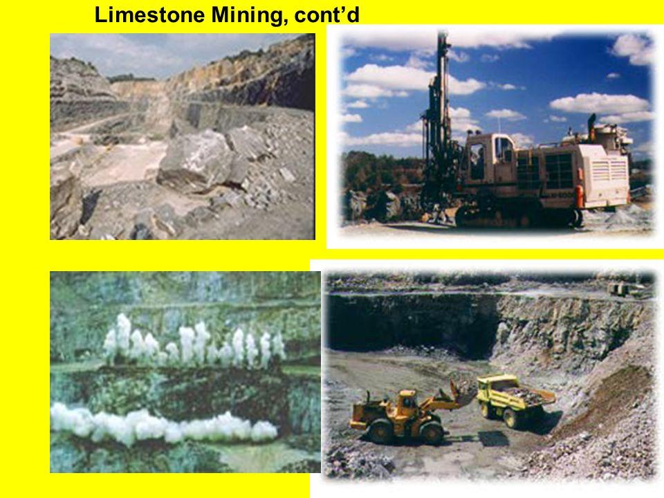 Limestone Mining, cont'd