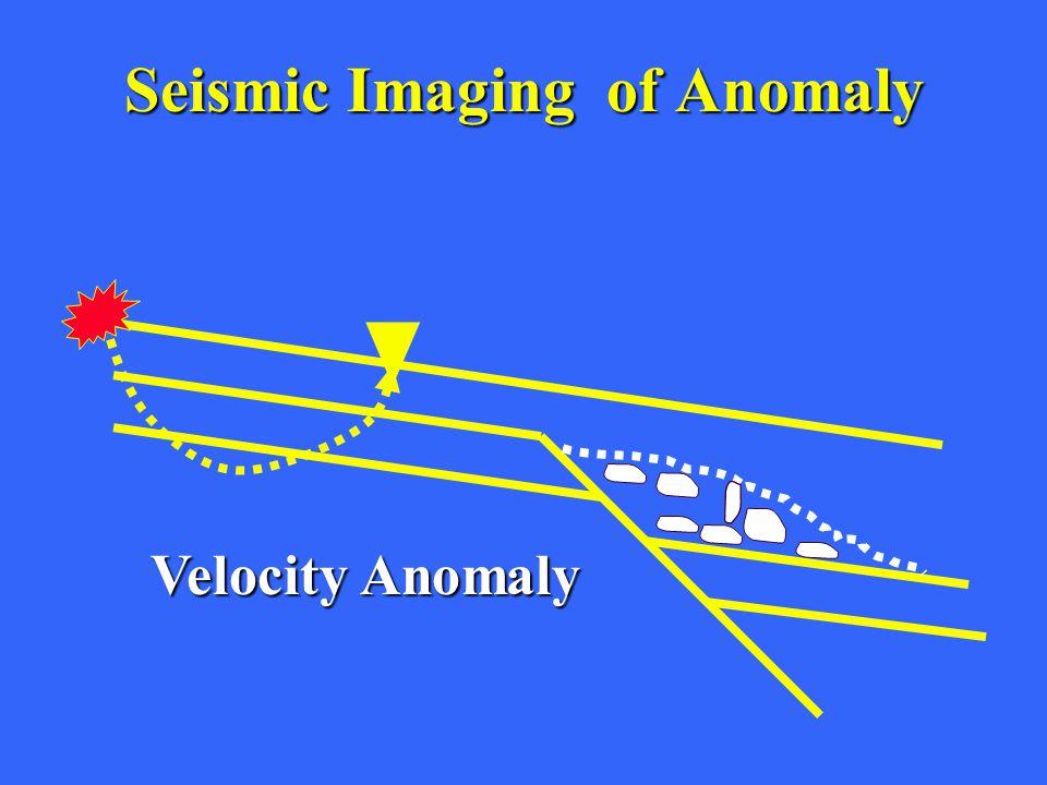 Seismic ImagingofAnomaly Seismic Imaging of Anomaly Velocity Anomaly