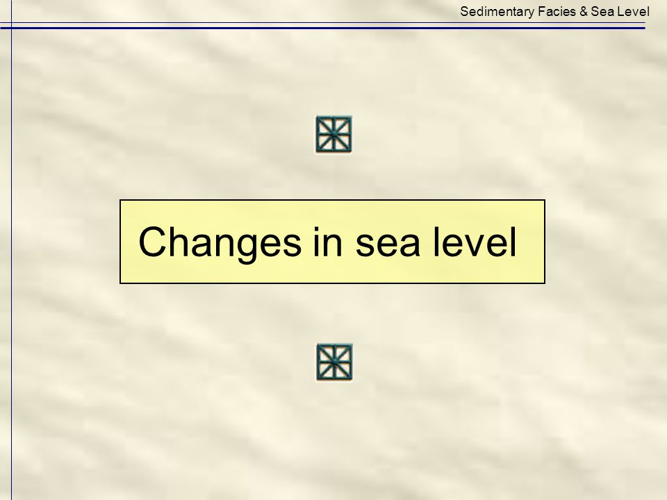 Sedimentary Facies & Sea Level Changes in sea level