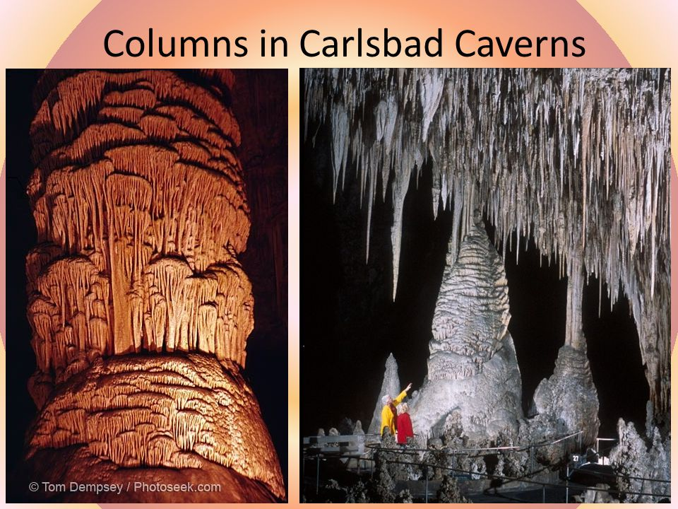 Columns in Carlsbad Caverns