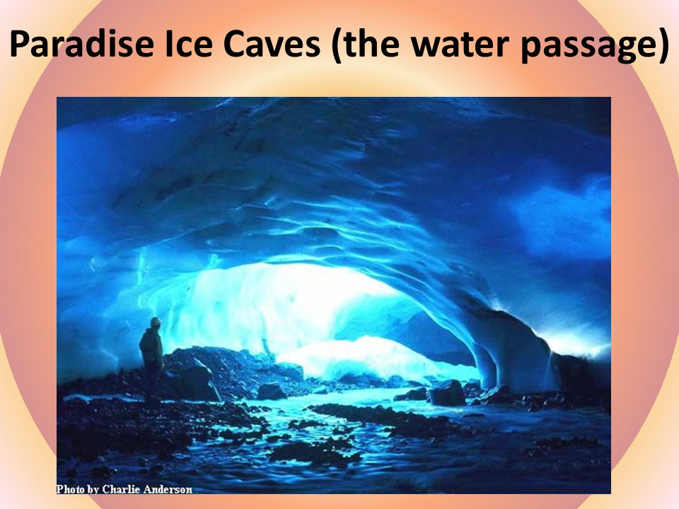 Paradise Ice Caves (the water passage)