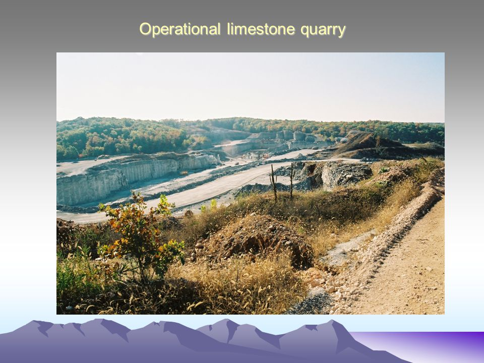 Operational limestone quarry