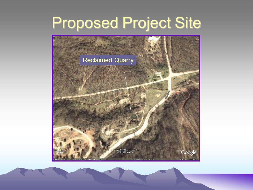 Proposed Project Site Reclaimed Quarry