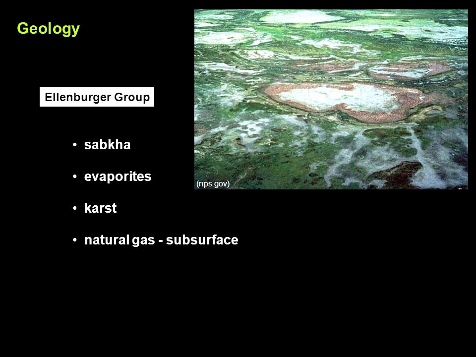 sabkha evaporites karst natural gas - subsurface Ellenburger Group Geology (nps.gov)