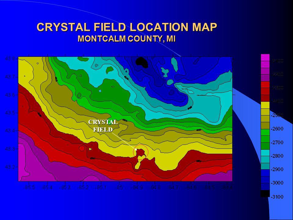CRYSTAL FIELD LOCATION MAP MONTCALM COUNTY, MI CRYSTAL FIELD