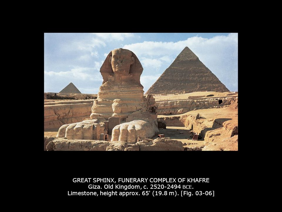 GREAT SPHINX, FUNERARY COMPLEX OF KHAFRE Giza.Old Kingdom, c.