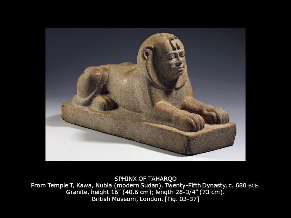 SPHINX OF TAHARQO From Temple T, Kawa, Nubia (modern Sudan).