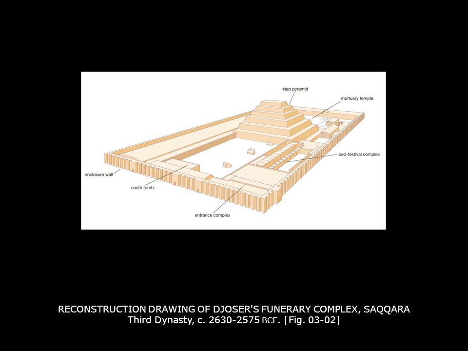 RECONSTRUCTION DRAWING OF DJOSER S FUNERARY COMPLEX, SAQQARA Third Dynasty, c.