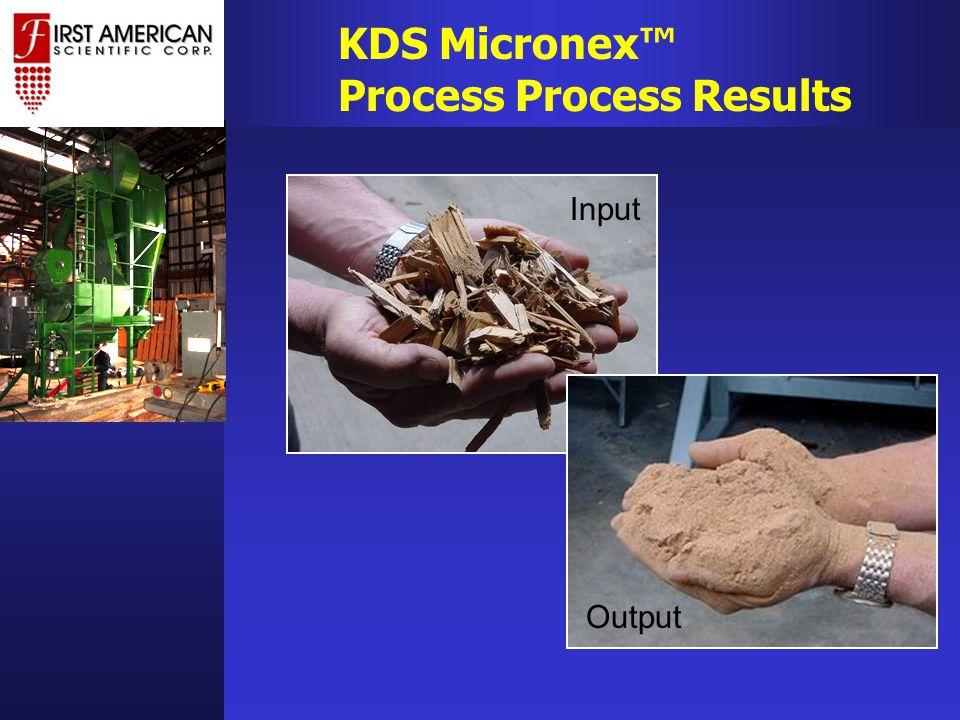 KDS Micronex™ Process Process Results Input Output