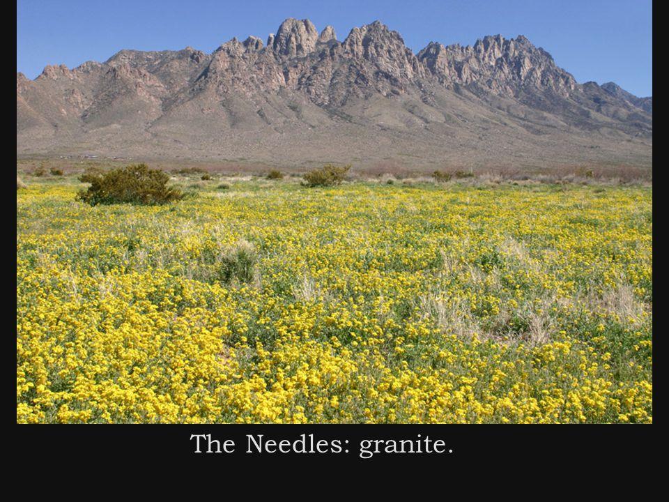 The Needles: granite.