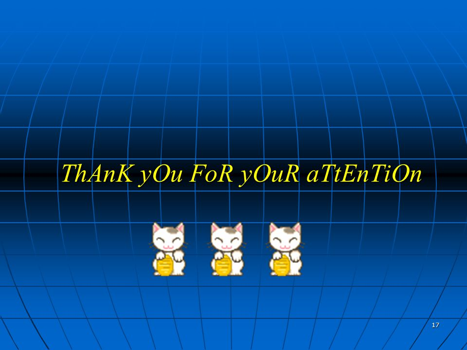 17 ThAnK yOu FoR yOuR aTtEnTiOn