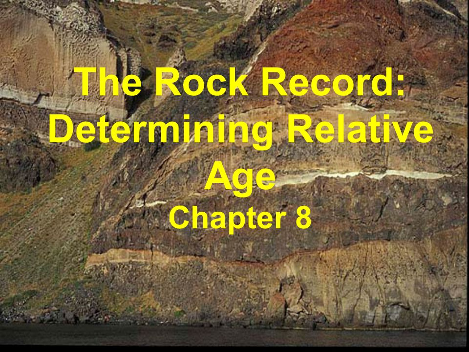The Rock Record: Determining Relative Age Chapter 8
