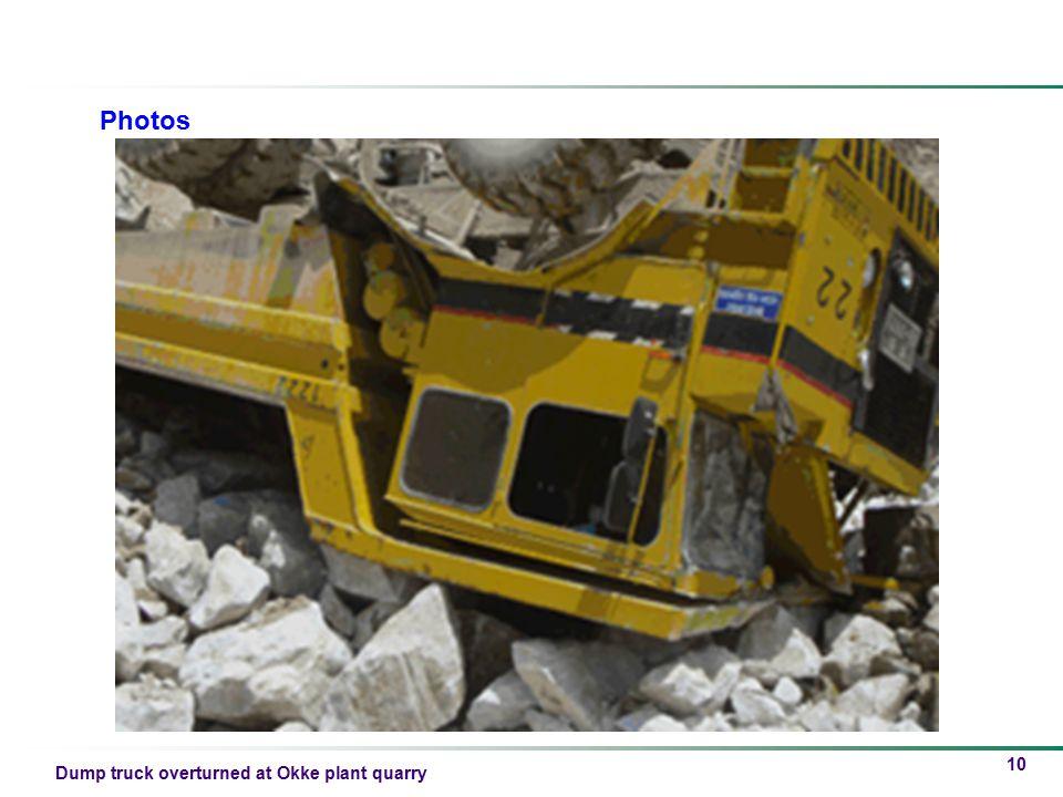 Dump truck overturned at Okke plant quarry 10 Photos
