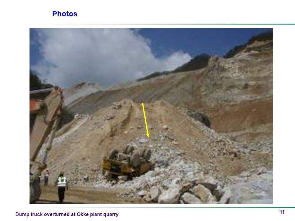 Dump truck overturned at Okke plant quarry 11 Photos
