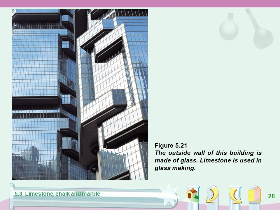 27 Figure 5.20 Limestone is a raw material for making cement. 5.3 Limestone, chalk and marble
