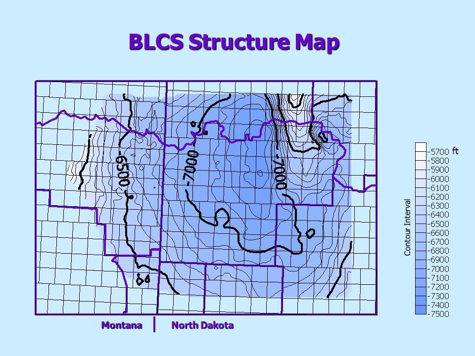 Contour Interval ft Montana North Dakota BLCS Structure Map