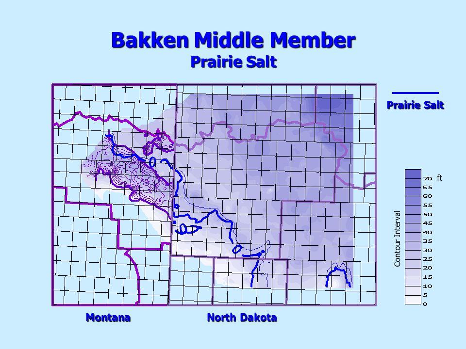 PrairieSalt Prairie Salt Bakken Middle Member Prairie Salt Montana NorthDakota North Dakota Contour Interval ft