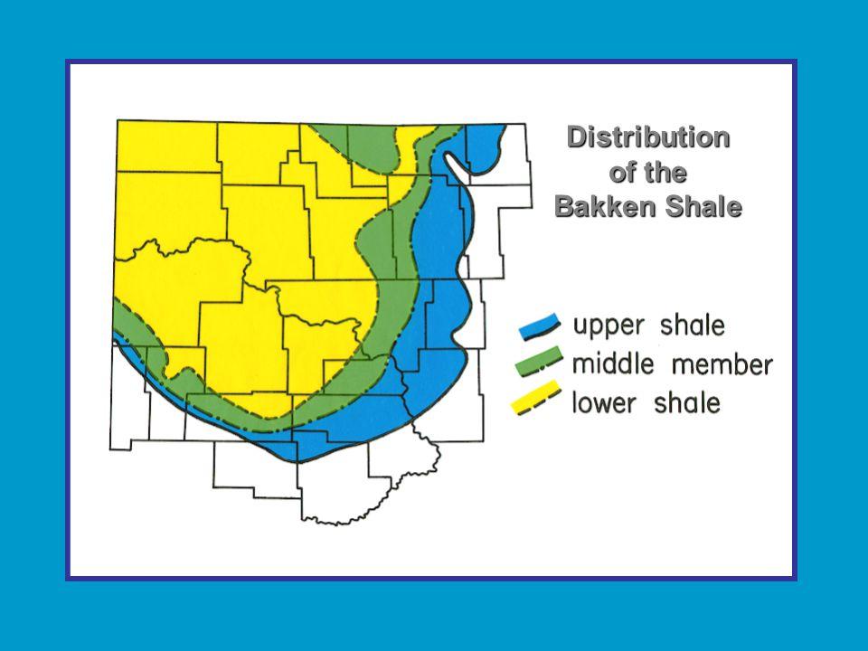 Distribution of the Bakken Shale