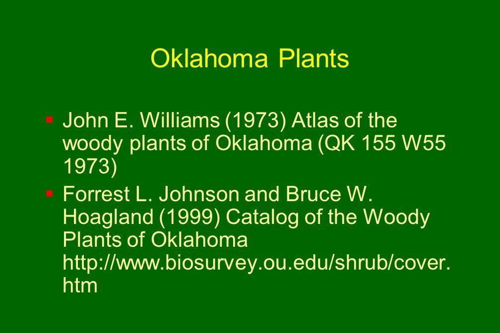 Oklahoma Plants  John E.