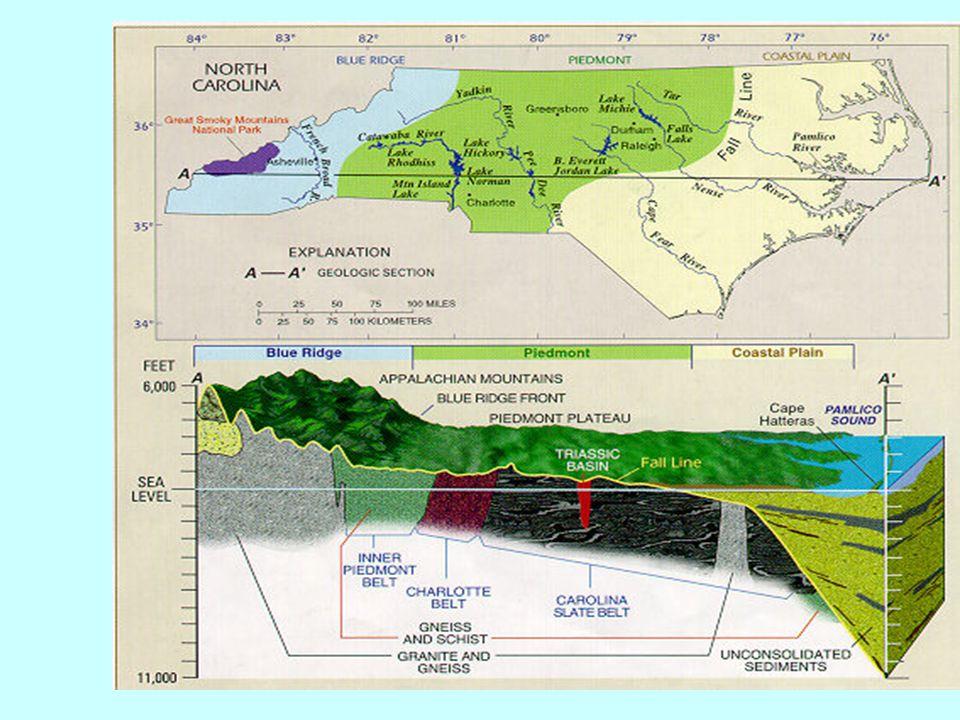 Floridan Aquifer FloridanLimestone Appalachian Sedimentary Rock Limestone Piedmont Crystalline rock Coastal Plain Sand + clay Ground Water Atlas http://capp.water.usgs.gov/gwa/gwa.html