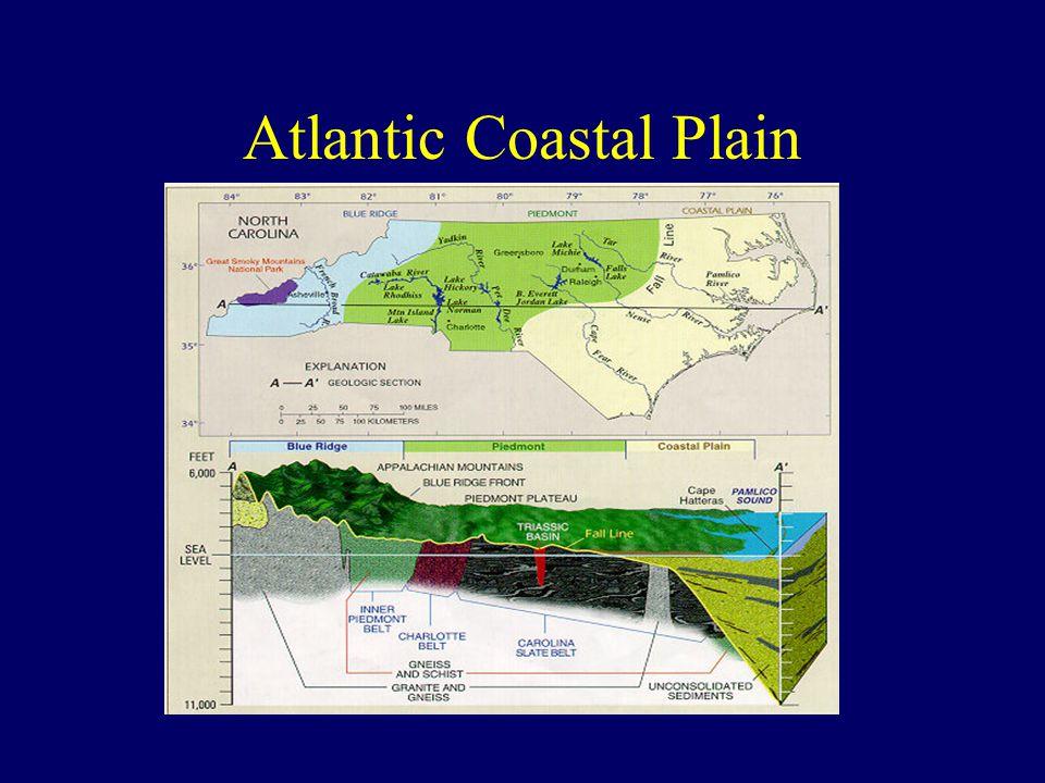 Comparison of SE Regions RegionT (m 2 /day)Recharge (m/yr) Qwell (gpm) Piedmont1-1000.03-0.310-100 Coastal Plain Clastic 500-10,0000.05-0.5100-5000 Floridan Limestone 1,000-100,0000.03-0.51000-20,000