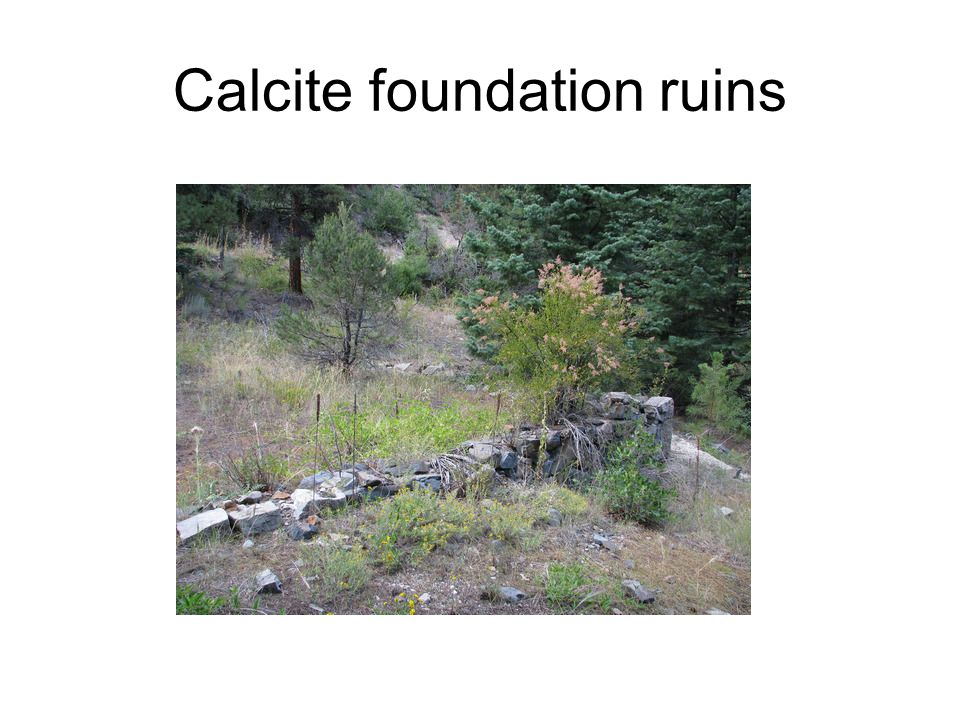 Calcite foundation ruins