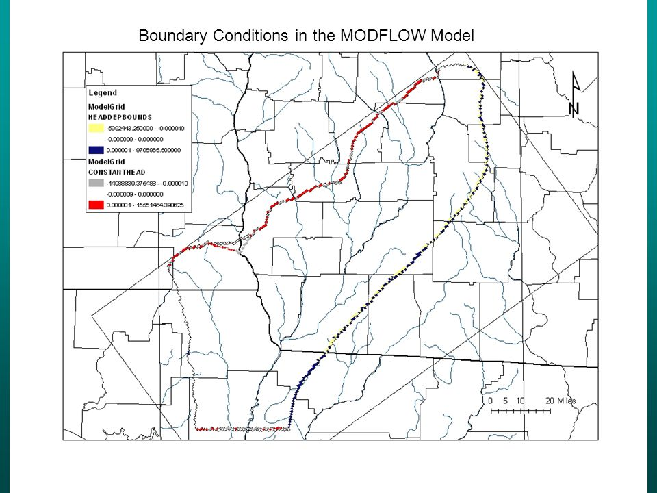Boundary Conditions in the MODFLOW Model