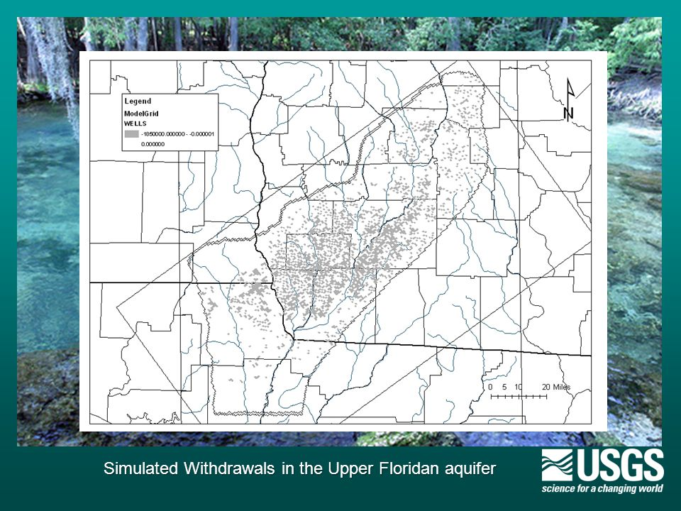 Simulated Withdrawals in the Upper Floridan aquifer