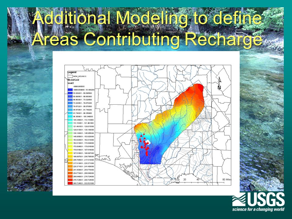 Additional Modeling to define Areas Contributing Recharge