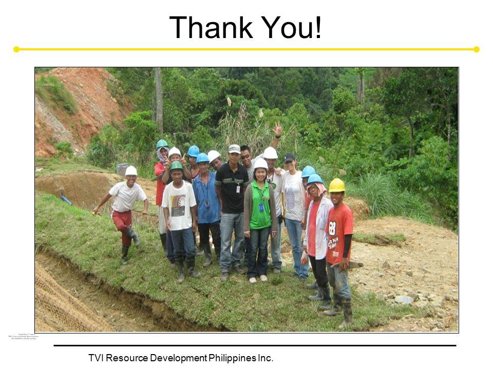 TVI Resource Development Philippines Inc. Thank You!