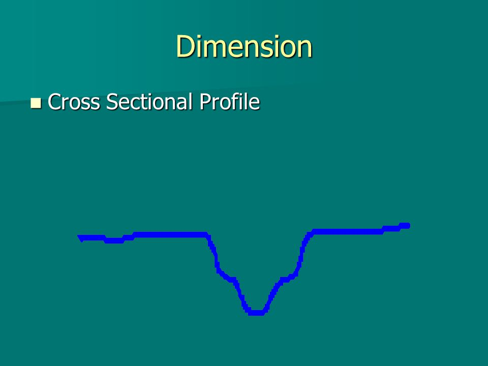 Dimension Cross Sectional Profile Cross Sectional Profile