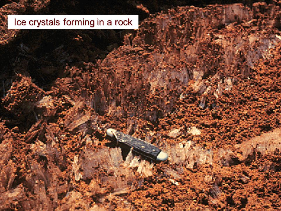 Pressure (Stress) Release Exfoliation of a rock mass occurs as it expands in response to the removal of adjacent rock.